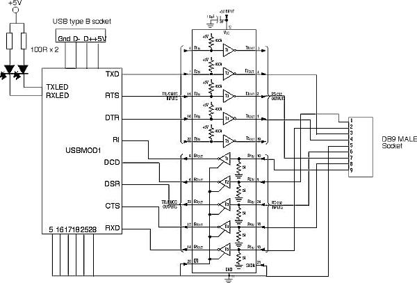 wiring diagram for usb to serial adapter